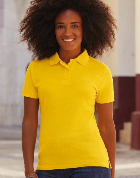 Fruit of the Loom poloshirt geel vrouwen