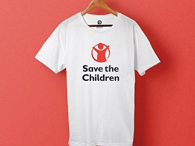 Projecten bedrukte T-shirts voor Save the Children
