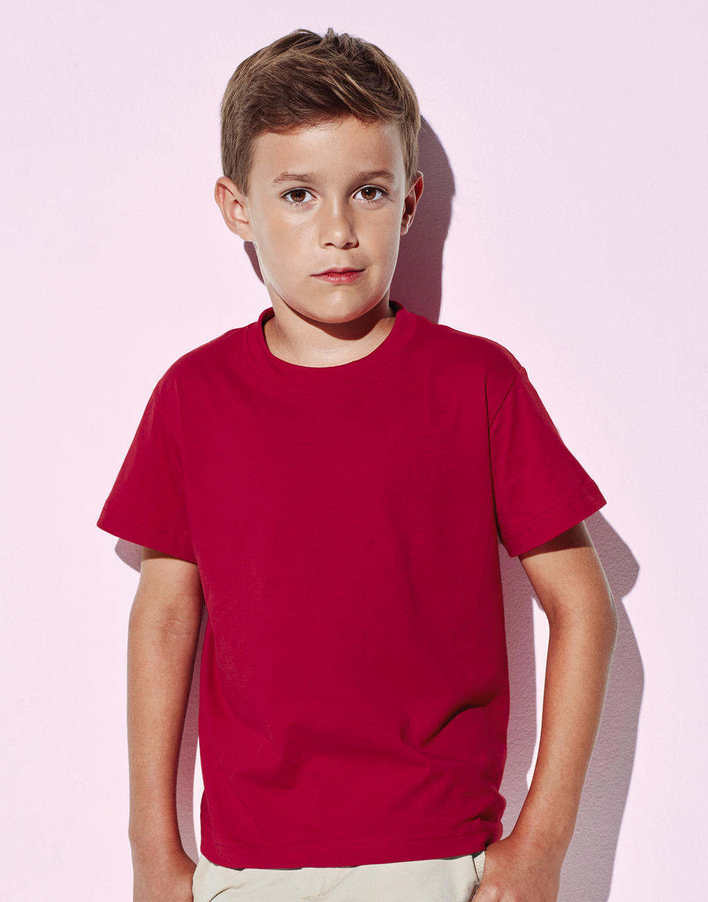 Duurzame T-shirts kinderen rood