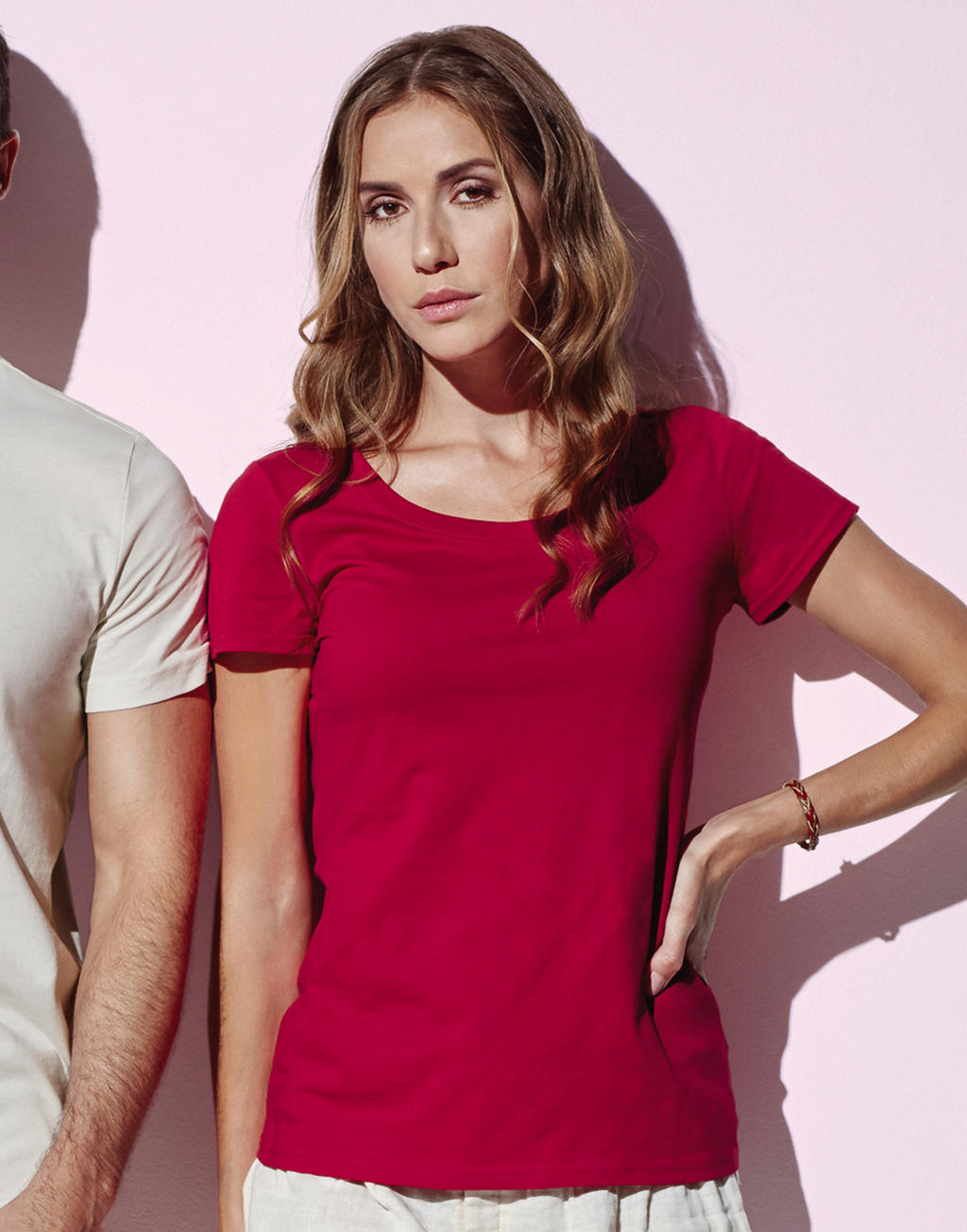 Duurzame T-shirts vrouwen rood